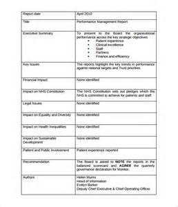 Performance Management Report Template management report templates 18 free word pdf