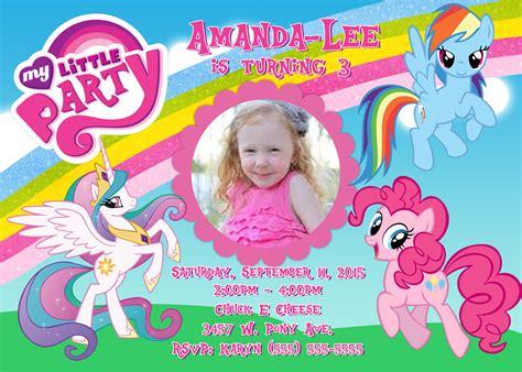 Pony Invitation Card Template by My Pony Birthday Invitation Kustom Kreations
