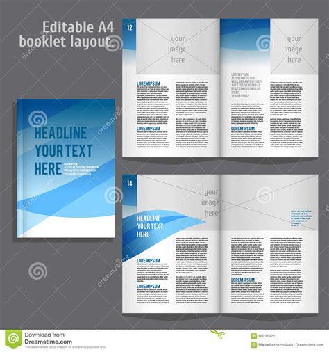 book interior layout template a4 book layout design template stock vector image 60031322