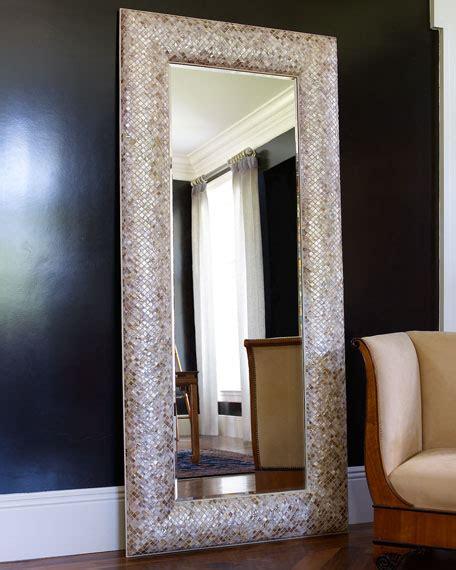 spiegelrahmen streichen interlude home of pearl floor mirror neiman