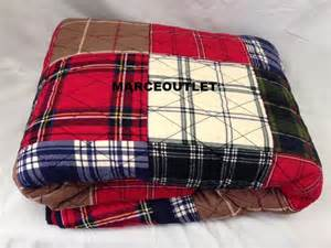 Martha Stewart Patchwork Quilt - martha stewart plaid patchwork cotton quilt
