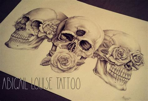 evil skull tattoo designs hear no see no speak no evil skulls and roses drew as a