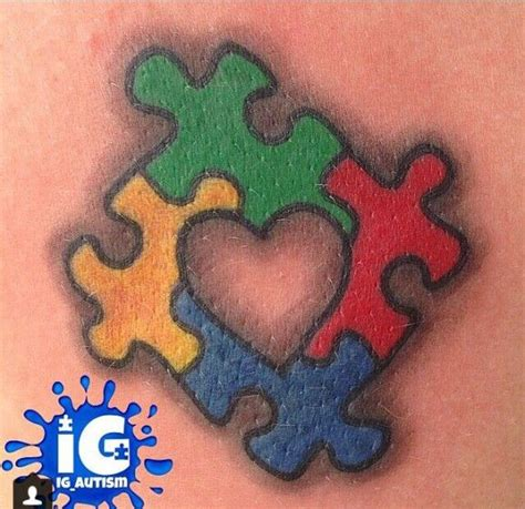 autism puzzle piece tattoo best 20 autism tattoos ideas on autism