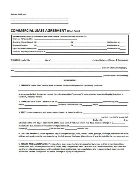 40 sle lease agreement forms