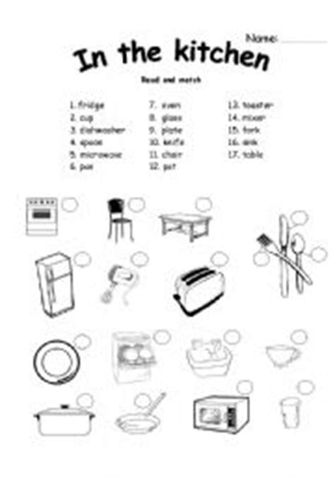 Words For The Kitchen by Teaching Worksheets In The Kitchen