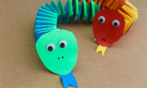 Paper Craft Kidspot by Paper Accordion Snakes Kidspot