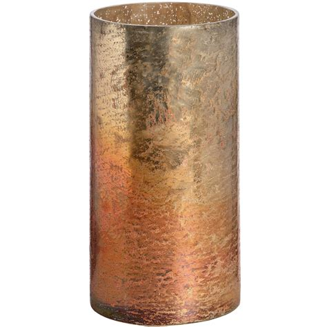 Copper Candle Holder Copper Ombre Metallic Glass Large Candle Holder From Hill