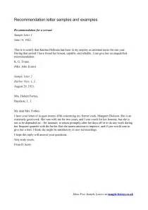 Recommendation Letter Practical Recommendation Letter Template
