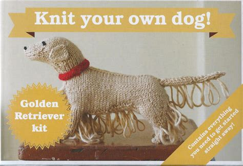 knit your own knit your own knitting kit golden retriever muir