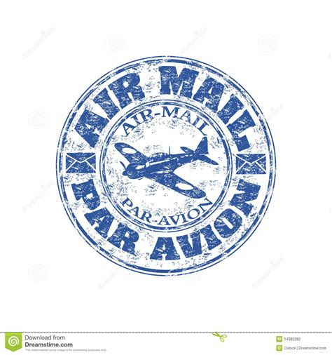 air mail rubber st air mail grunge rubber st stock photography image