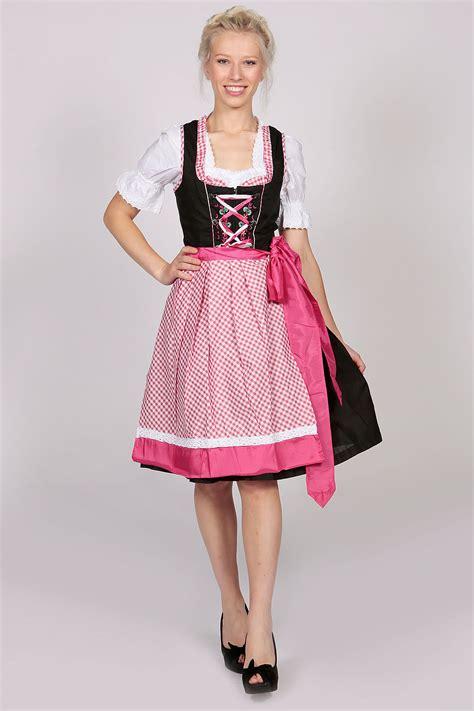 Amarsa Black Dress Dress Wanita german dirndl dress amara black pink lederhosen store