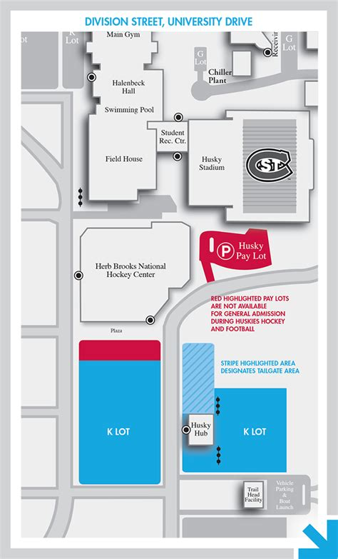 St Cloud Mba by Cus Map Parking Huskies Football St Cloud State