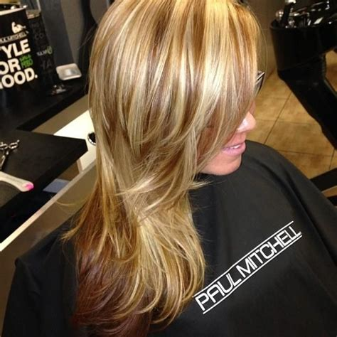 blonde highlights with caramel lowlights caramel blonde highlights and milk chocolate low lights
