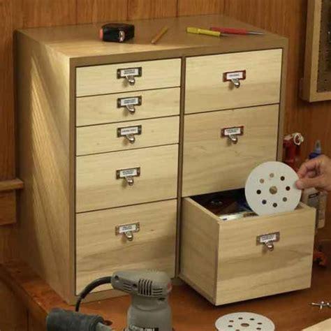 shop organizer  drawers woodworking plan wood magazine