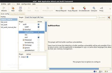 w3af tutorial kali linux web application attack and audit framework w3af