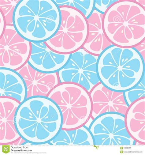 pattern pink and blue seamless pattern with pink and blue citrus stock vector