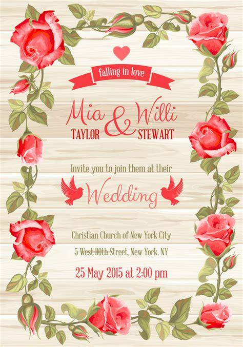 Bunga Kertas Mawar Classic perbatasan mawar merah pernikahan kartu undangan kartu