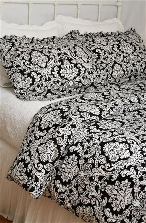 Black And White Toile Duvet Cover Bellahomefashions Com Clearance White On Black Damask
