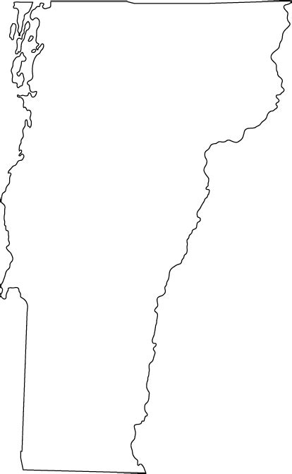 Vermont Outline Map