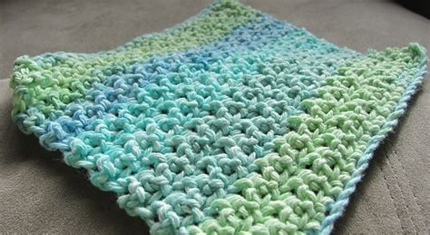 is knitting easier than crochet free pattern this makes a thinner dishcloth than