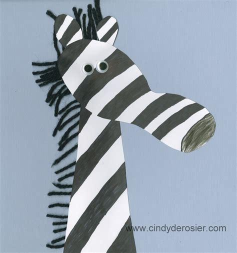 zebra crafts for footprint zebra family crafts