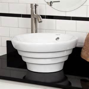 valentino porcelain vessel sink white bathroom