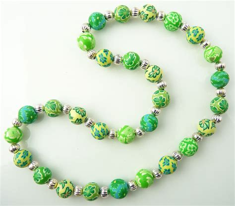 clay bead jewelry 10mm polymer clay necklace snazzy