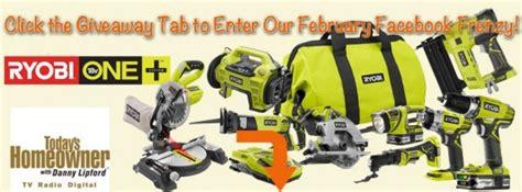 Ryobi Sweepstakes - todayshomeowner com february frenzy ryobi tools prize pack giveaway