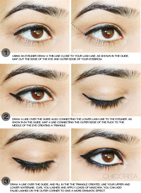 tutorial on eyeliner application easy cat eyeliner tutorial read full article http