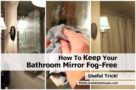 how to keep your bathroom mirror fog free
