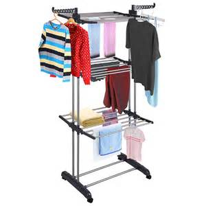 Retractable Clothes Dryer Rack 66 Quot Laundry Clothes Storage Drying Rack Portable Folding