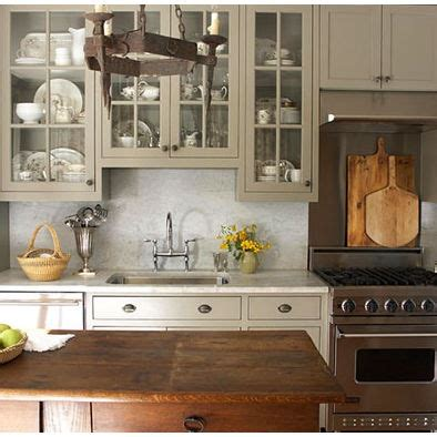 Taupe Painted Kitchen Cabinets Kitchen Taupe Cabinets Marble Home Sweet Home