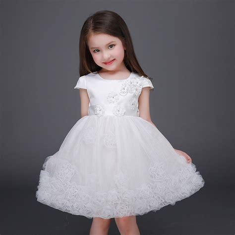 White Flower Dress Excellent Quality fashion 2016 tutu summer white flower dresses high quality clothing casual princess