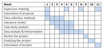 Schedule Template For Qualitative Research by Dissertation Gant Chart