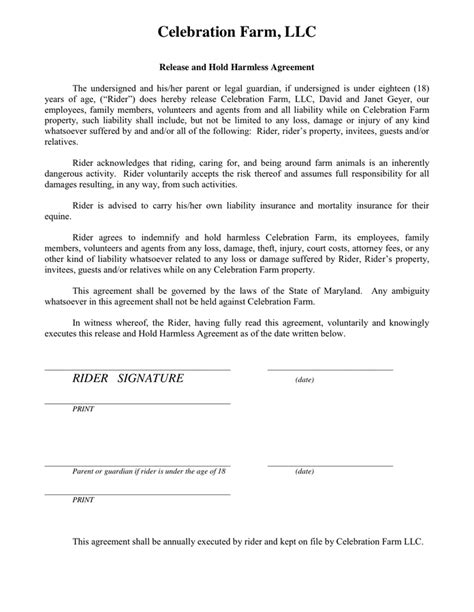 Release And Hold Harmless Letter Hold Harmless Agreement Template Word Format Resume Hold