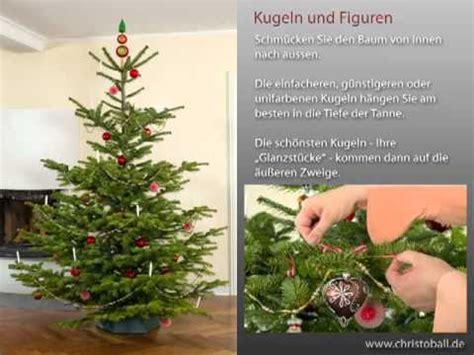 weihnachtsbaum schm 252 cken leichtgemacht youtube