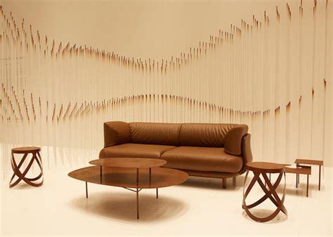 chocolate texture lounge installation fubiz media