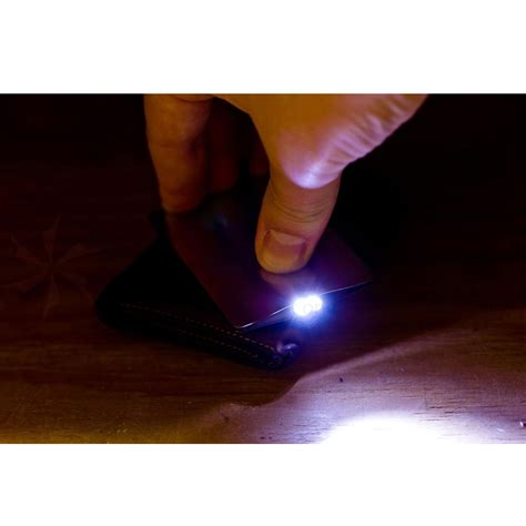 jual sinclair credit card size mini led flashlight