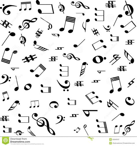 pattern making notes free music notes pattern stock vector illustration of notes
