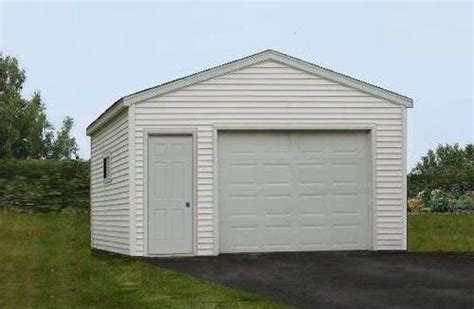 20 X 20 Garage by 16 X 20 X 8 1 Car Low Maintenance Garage With Trusses