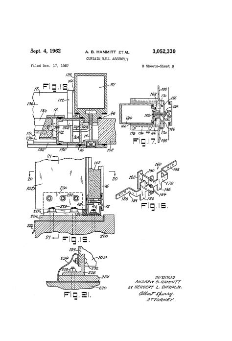 curtain wall assembly patent us3052330 curtain wall assembly google patents