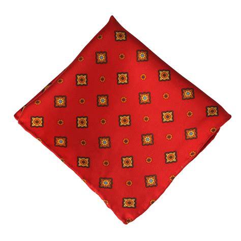 yellow pattern pocket square red yellow square pattern silk pocket square elegant