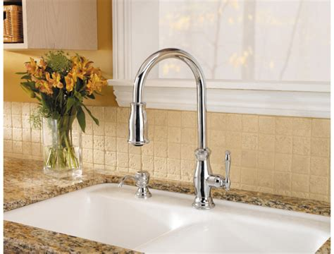 price pfister hanover kitchen faucet pfister gt529 tmc hanover single handle pull kitchen