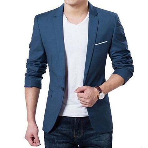 Blazer Pria Korean Style Navy Blue model blazer pria terbaru dengan desain khas korea yang