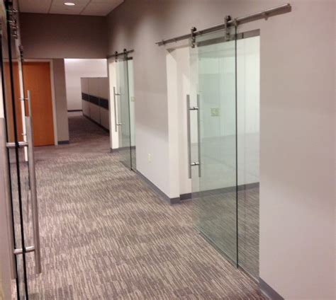 Interior Doors Decorative Glass Sliding Office Doors Tempered Glass On Pipeline Sliders