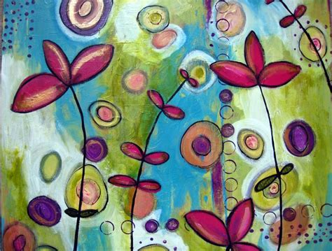 easy painting flower designs flowers simple painting ideas canvas