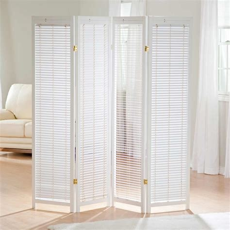 Shutter Room Divider White Room Divider 4 Panel Feel The Home