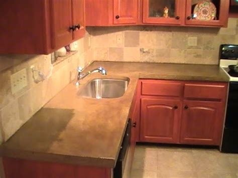 How To Build Kitchen Countertop by How To Build A Concrete Countertop Diy