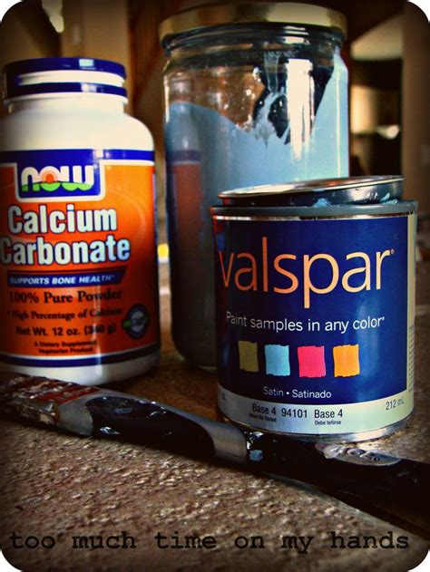 chalk paint recipe calcium carbonate chalk paint how to