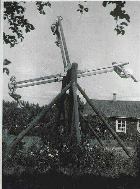 1950s Swing On A Swing Finland Ca 1950s Vintage Everyday